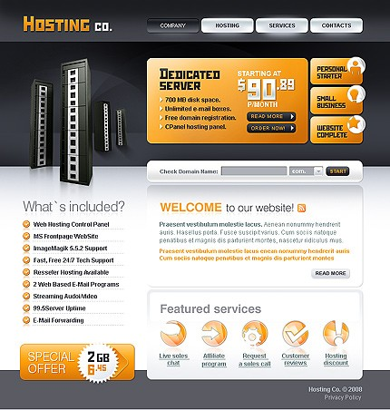 free game video php and blog hosting hosting templates