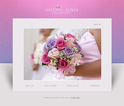 A new wedding album flash template has just been added to our website