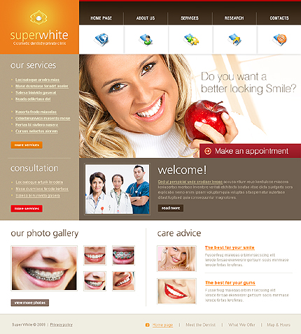 Cosmetic Dentistry Website Template